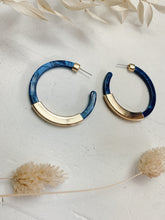 Load image into Gallery viewer, Blue and Gold Hoops