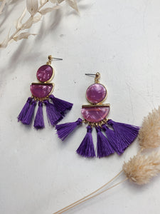 Purple Tier Tassels