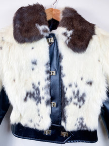 60s Cropped Fur Coat