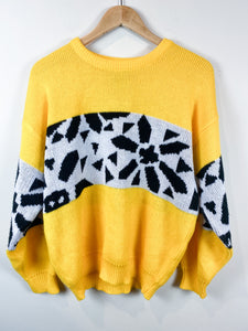 80s Black n Yellow Sweater