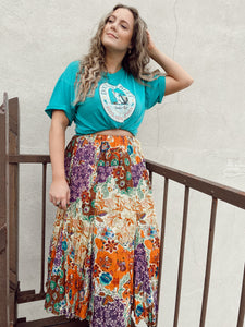 90s Patchwork Summer Skirt