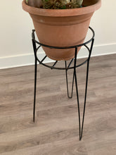 Load image into Gallery viewer, 60s Metal Plant Stand