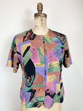 Load image into Gallery viewer, 80s Poly Blouse