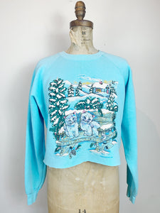 90s Kitty Cropped Crewneck