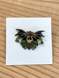 70s Harley Davidson Motorcycles bat wing pin