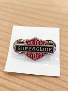 80s HD Super Glide Motorcycle pin
