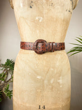 Load image into Gallery viewer, Brown Snakeskin Belt