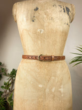 Load image into Gallery viewer, 80s Texas Leather Belt
