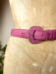 90s Pink Leather Belt