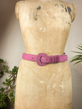 Load image into Gallery viewer, 90s Pink Leather Belt