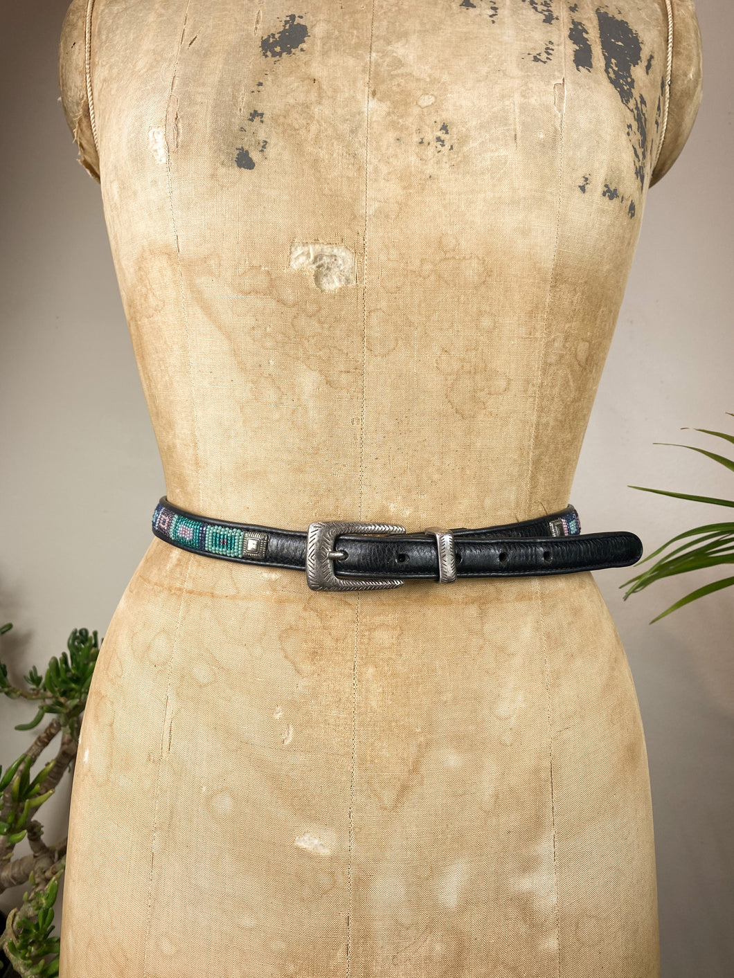 80s Square Beaded Belt