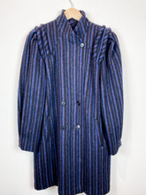 Load image into Gallery viewer, 80s Striped Wool Coat