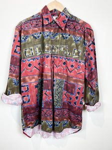 90s Abstract Button Up