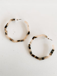 Geometric Tortise Hoop Set