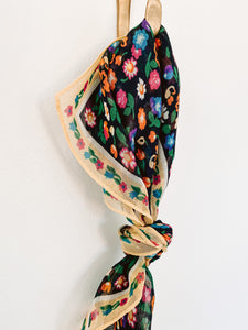 60s Floral Scarf