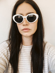 80s White Fashion Sunglasses