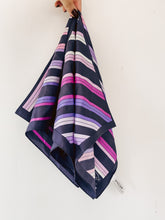 Load image into Gallery viewer, 90s Purple Striped Scarf