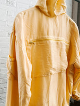 Load image into Gallery viewer, 90s Silk Yellow Hooded Jacket