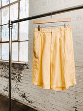 Load image into Gallery viewer, 80s Yellow Silk Shorts