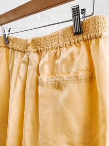 80s Yellow Silk Shorts
