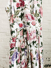 Load image into Gallery viewer, 80s Floral Culotte Dress