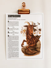 Load image into Gallery viewer, Capricorn Zodiac Print