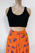 Load image into Gallery viewer, 80s Front Button Orange Skirt