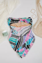 Load image into Gallery viewer, 80s Striped Swimsuit