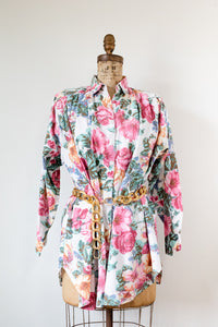 90s Floral Button Up Dress