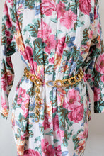 Load image into Gallery viewer, 90s Floral Button Up Dress