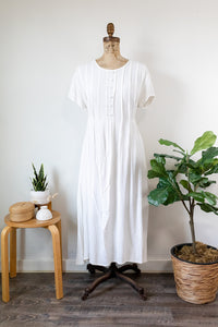 80s White Summer Dress