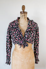 Load image into Gallery viewer, 90s Tie Front Floral Blouse