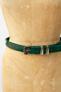 90s Studded Leather Fashion Belt