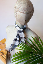Load image into Gallery viewer, 80s Grey Striped Scarf