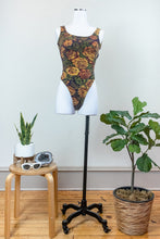 Load image into Gallery viewer, 80s Floral Thong Bodysuit