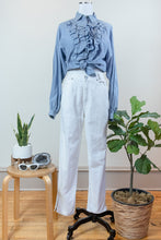 Load image into Gallery viewer, 90s Ruffled Denim Button-up