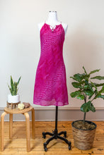 Load image into Gallery viewer, 90s Hot Pink Snake Pattern Dress