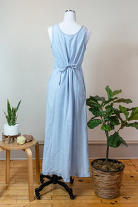 90s Button Front Denim Dress