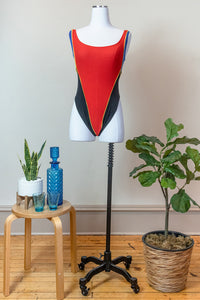80s Color Blocked Bodysuit