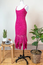 Load image into Gallery viewer, 90s Hot Pink Party Dress