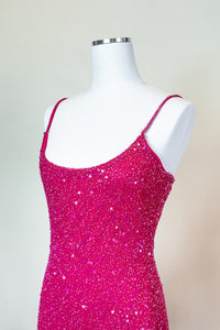 90s Hot Pink Party Dress
