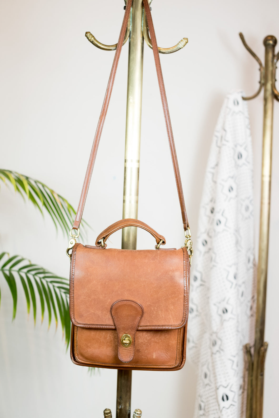 80s Brown Coach Saddle bag
