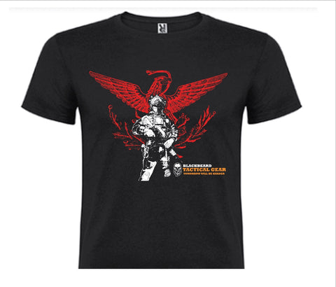 PLAYERA NEGRA BLACKBEARD TACTICAL GEAR, AGUILA.
