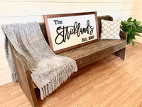 Rachel's Wood Barn | Family Name Sign | Farmhouse Wall Decor