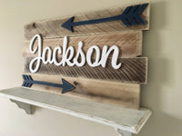 Rachel's Wood Barn | Nursery Wall Decor Boy | Rustic Boy Nursery Name Sign