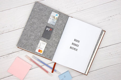 The Paper Saver Eco Notebook repurposes your discarded paper as pages so you write notes sustainably while during paper waste.