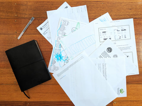 The Paper Saver Eco Notebook repurposes your used paper as pages so you write notes sustainably while reducing waste.