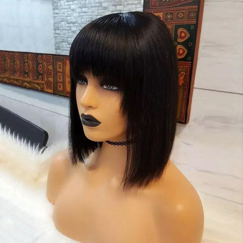 Full Lace Bob with Bangs