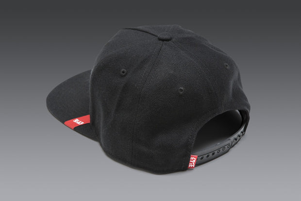 V2 Wool Snapback Logo Hat Black