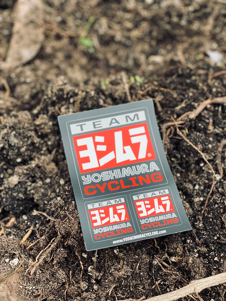 "Yoshimura Team Cycling Sticker 3"" x 5"""